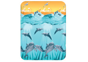 Selimut Kendra160X200 Exclusive Soft Panel 3D Blanket motif Dolphin