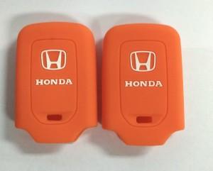 Kondom Kunci Silikon Cover Remote Keyshirt Honda HRV HR-V Jazz ORANGE