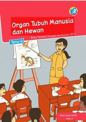 Buku kurikulum 2013 kelas 5 tema 6 Organ Tubuh Manusia dan Hewan