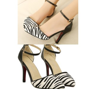 Sepatu Wanita Color Zebra korea Impor SH916
