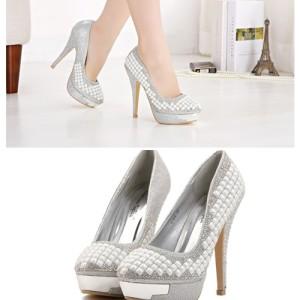 Sepatu Fashion WANITA Color SILVER SH0104