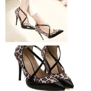 Sepatu Fashion Wanita Color Leopard SH995