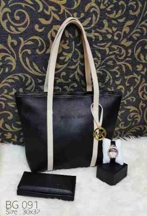 Tas semi formal free dompet dan jam tangan