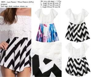 Jumpsuit Mini import, Lace, Wave, Flower, Silk, Lookbook,Murah