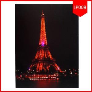 Lighting Painting 50X70 Paris Night / Pajangan Lukisan Lampu Murah