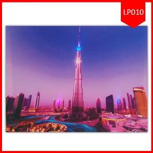 Lighting Painting 40X50 Gedung Burj Khalifa | Pajangan Lukisan Lampu