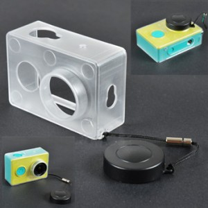 Hardcase / Protective Plastic Case Cover+Lens Cap for Xiaomi Yi Sports