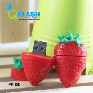 Flashdisk Imut Strawberry Merah 8GB