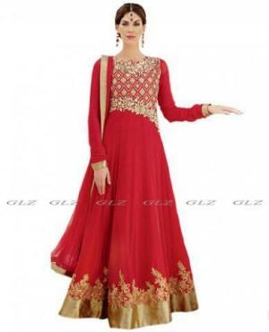 (2in1) Miss Dinna maxi set Red/Baju India/Sari India