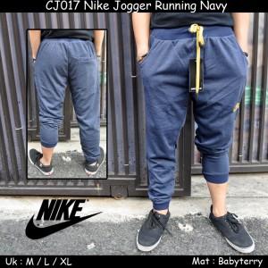 CJ017 Nike Jogger Running Navy