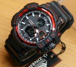 Jam tangan Dziner 6068 original black red