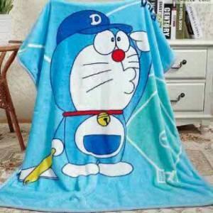 selimut lembut halus karakter anak lucu doraemon