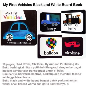 My First Vehicles Black and White Board Book (US-BBY-BRD-FVBW)