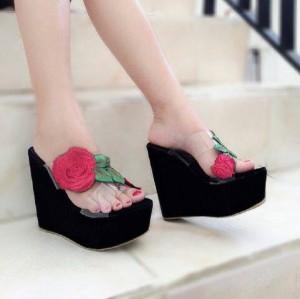sandal wedges mika flower