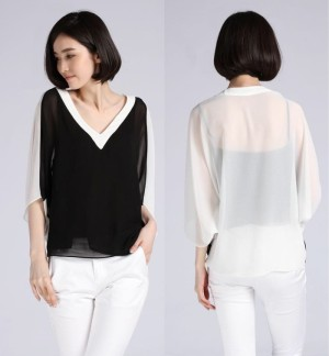 Two Tone Blouse (blouse,dress,jumpsuit,skirt,pants,tas)