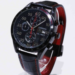 jam tangan Tagheuer Cal 1887 Black Leather