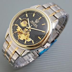 jam tangan Rolex-Rantai-Elegant-CombiBlack