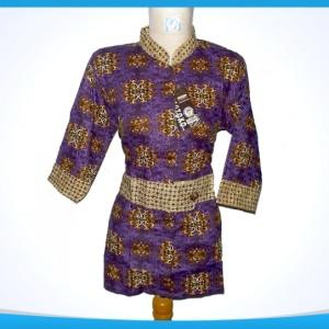blouse batik ungu 0404 LD92796cm kerah sanghai