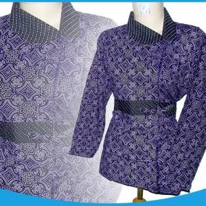 blouse batik ungu 0907