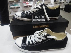 Sepatu Converse All Star (Slim) Black White Original