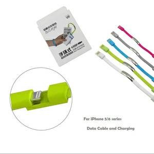 USB to iPhone 5/6 Coloring Bracelet Data Cable gelang kabel data murah
