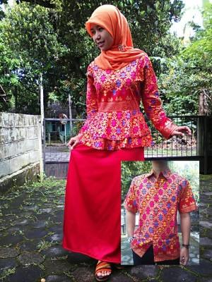 Jual Baju Muslim Gamis Gaun Baju Setelan Sarimbit Batik