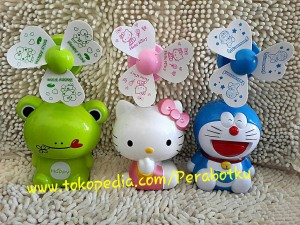 Kipas Angin USB emergency Boneka Doraemon Hello Kitty Keropi Keroppi