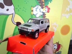 harga Miniatur Diecast Hummer H3 Silver Skala 1:36 by Welly Tokopedia.com