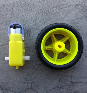 Smart Car Motor Gearbox 6V + Roda