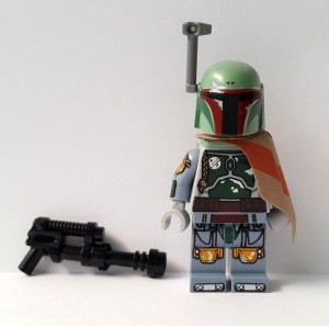 Lego Minifigure Star Wars Boba Fett UCS Slave 1 + Weapon (Rare)