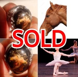 Pancawarna Garut. Motif Kepala Kuda & Balerina Dalam 1 Batu.