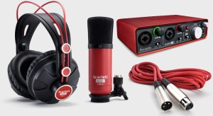 harga jual paket recording focusrite scarlett studio murah di bandung Tokopedia.com