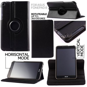 harga 360 Degree Rotary Leather Case Asus Fonepad 8 Tokopedia.com