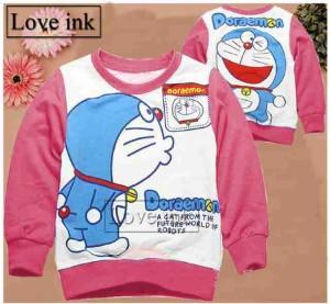 Sweater Anak Doraemon Kiss Pink