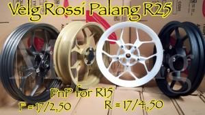 Velg / Pelek tapak lebar Rossi PnP R15 model Palang R25