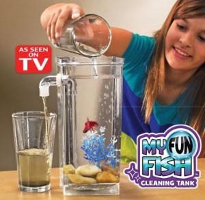 cleaning fish tank pembersih sisa pakan air ikan hias mas koi aquarium