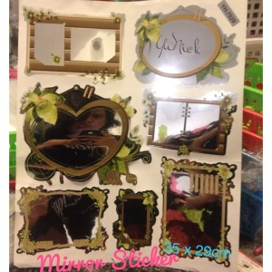 MURAH new sticker mirror 7pc stiker kaca vintage unik besar scrapbook