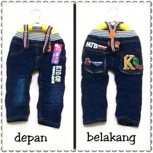 harga celana panjang + suspender jeans anak jeans+suspender motif mtb Tokopedia.com