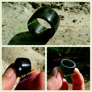 Cincin Ring Black Jade Super Aceh