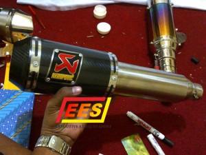 Knalpot Akrapovic Gp Carbon Full System VIxion Byson R15 Megapro Tiger