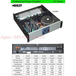Professional power amplifier. ampli outdoor Ashley AY series [AY2550]