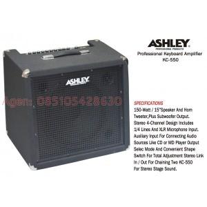 Professional Keyboard Amplifier Ashley KC-550, ampli / cuk / portable
