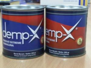 Lem Epoxy Demp-X, lem 2 komponen. 0.5kg set