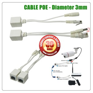 KABEL POE SPLITTER (PER-SET), POE CABLE, DIAMETER SIZE 3MM, COMPATIBLE FOR IP CAMERA, CCTV NETWORK, LAN TOOLS, DLL