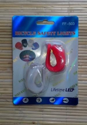 Lampu Sepeda Silikon Harga Sepasang - Merah dan Putih