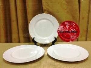Piring Makan Ceper / Piring Dinner Keramik / Porselen Flat Plate