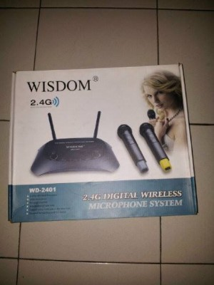 harga MIC WISDOM 2.4G DIGITAL WIRELESS MICROPHONE SYSTEM Tokopedia.com
