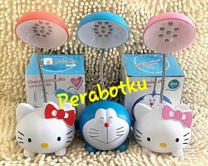 Lampu Belajar Meja Baca LED Mini Hello Kitty , Doraemon , Kero Keropi