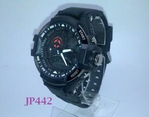 Jam Tangan Pria Analog Digital Tali Rubber SYNOKE 67876 Hitam - JP442