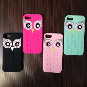 Casing Burung Hantu Owl Backcase Softcase Silikon Iphone 5 5S Case